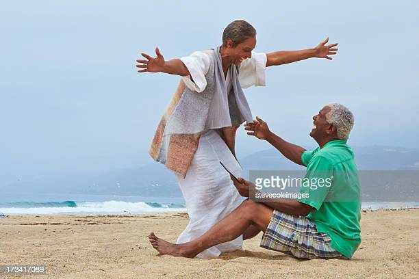 greetings - barefoot black men stock pictures, royalty-free photos & images