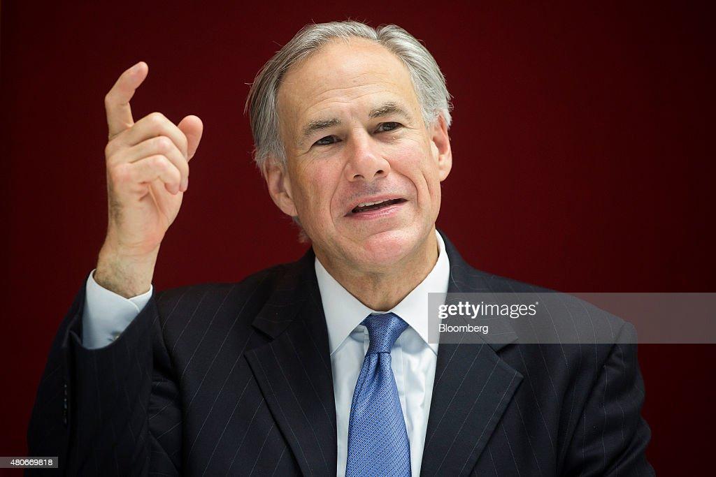 Texas Governor Greg Abbott Interview : News Photo