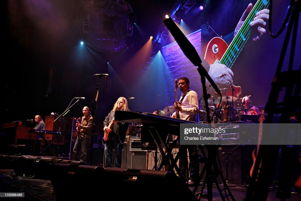 Greg Allman, Derek Trucks, Warren Haynes and Oteil Burbridge of The Allman Brothers Band perform at the Beacon Theatre on March 17, 2011 in New York City.