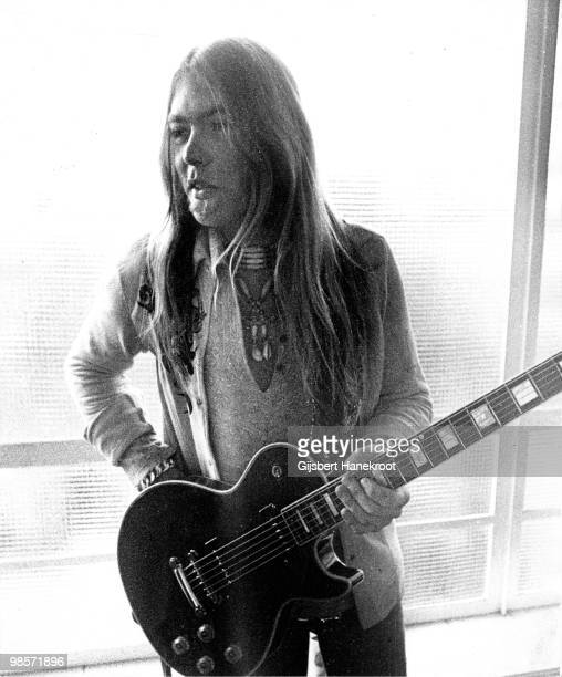 Greg Allman from The Allman Brothers posed at Hilversum in Holland on July 18 1974