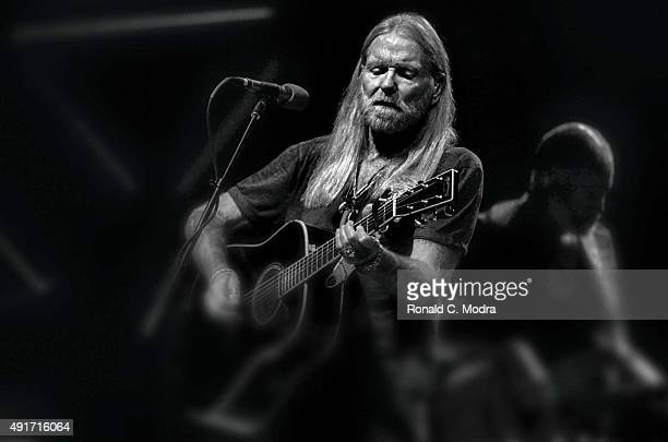 Greg Allman performs at the King Biscuit Blues Festival on October 12 2013 in Helena Arkansas
