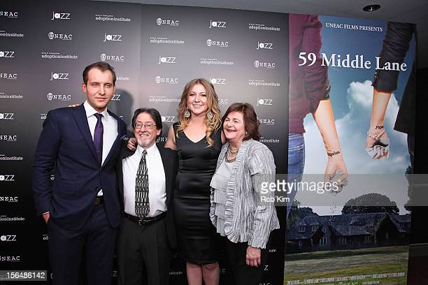 Greg Ammon Adam Pertman executive director Adoption Institute Alexa Ammon and aunt Sandra Williams attend 59 Middle Lane New York Benefit Screening...