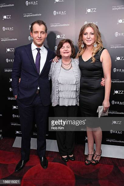 Greg Ammon aunt Sandra Williams and Alexa Ammon attend 59 Middle Lane New York Benefit Screening at Jazz at Lincoln Center on November 15 2012 in New...