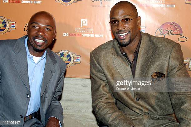 Greg Anthony and Alonzo Mourning during ZSG Gala Dinner and Auction - July 17, 2005 at American Airlines Arena in Miami, Florida, United States.