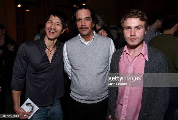 Greg Araki Actors Nicky Katt and Brady Corbet attend the after party of Warner Independent Pictures' 'Snow Angels' at the Egyptian Theater on...