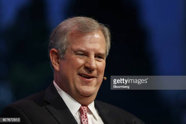 Greg Armstrong chairman and chief executive officer of Plains All American Pipeline LP smiles during the 2018 CERAWeek by IHS Markit conference in...