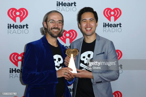Greg Barnett and actor Mike Cabellon attend the 2020 iHeartRadio Podcast Awards at iHeartRadio Theater on January 17 2020 in Burbank California