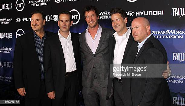 Greg Beeman, co-executive producer, Michael Wright, vice president and head of programming for TNT, actor Noah Wyle, Darryl Frank, co-president,...