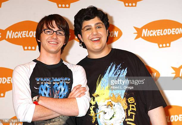 Greg Bell and Josh Peck during Nickelodeon's 17th Annual Kids' Choice Awards Press Room at Pauley Pavillion in Westood California United States