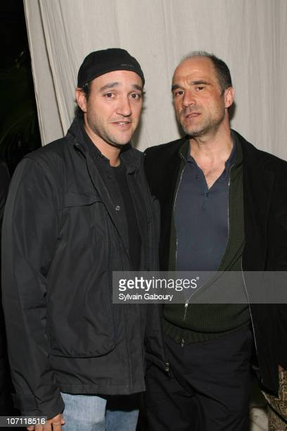Greg Bello and Elias Koteas during Zodiac New York City Screening Hosted by The Cinema Society and GQ After Party at Soho Grand Hotel at 310 West...