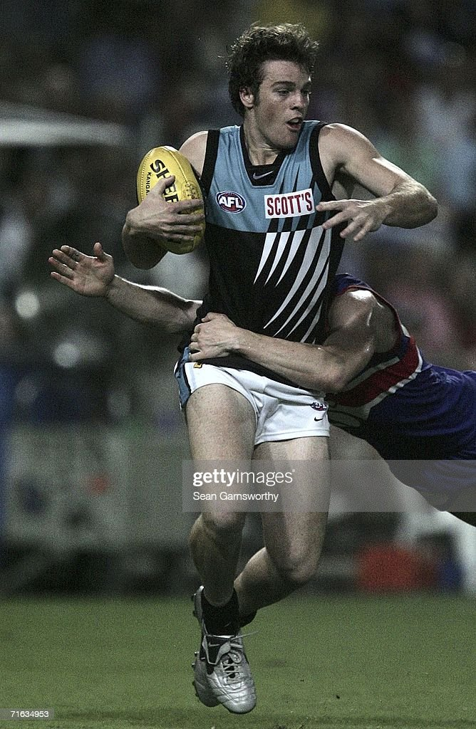 Greg Bentley #41 for the Power in action during the round 19 AFL match between the Western Bulldogs and the Port Adelaide Power at Marrara Oval on August 12, 2006 in Darwin, Australia.