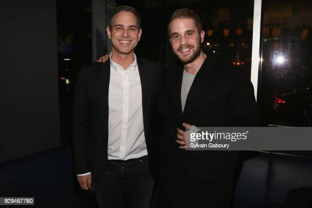 Greg Berlanti and Ben Platt attend 20th Century Fox Wingman host a screening of 'Love Simon' on March 8 2018 in New York City