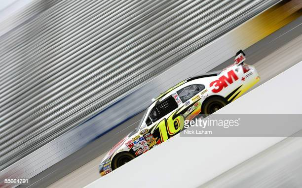 Greg Biffle driver of the 3M Ford drives during practice for the NASCAR Sprint Cup Series Goody�s Fast Pain Relief 500 at the Martinsville Speedway...