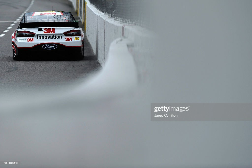Greg Biffle, driver of the #16 3M Ford, qualifies for the NASCAR Sprint Cup Series STP 500 at Martinsville Speedway on March 28, 2014 in Martinsville, Virginia.