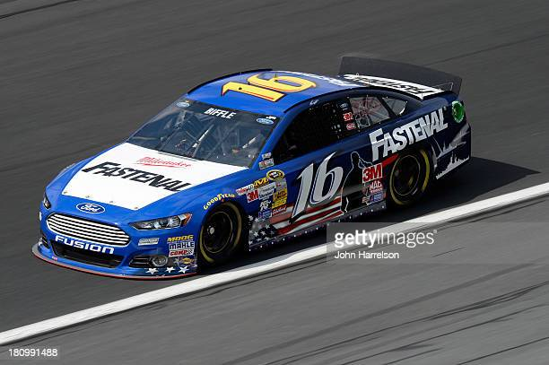 Greg Biffle driver of the Fastenal Ford during practice for the NASCAR Sprint Cup Series CocaCola 600 at Charlotte Motor Speedway on May 23 2013 in...