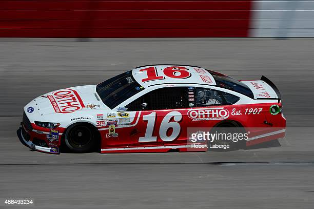 Greg Biffle driver of the Ortho Ford practices for the NASCAR Sprint Cup Series Bojangles' Southern 500 at Darlington Raceway on September 4 2015 in...