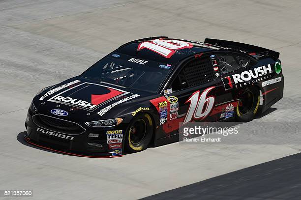 Greg Biffle driver of the Roush Performance Ford practices for the NASCAR Sprint Cup Series Food City 500 at Bristol Motor Speedway on April 14 2016...