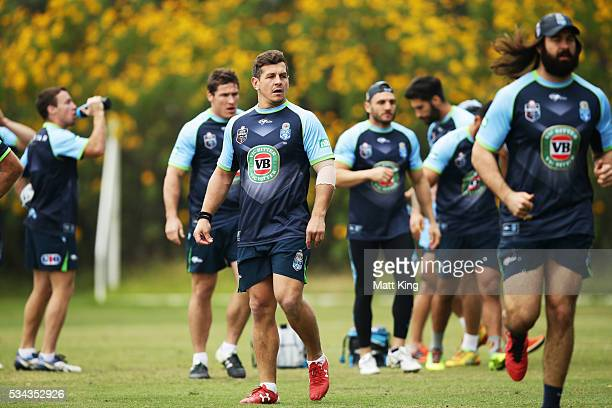 Greg Bird of the Blues looks on during a New South Wales State of Origin media opportunity on May 26 2016 in Coffs Harbour Australia