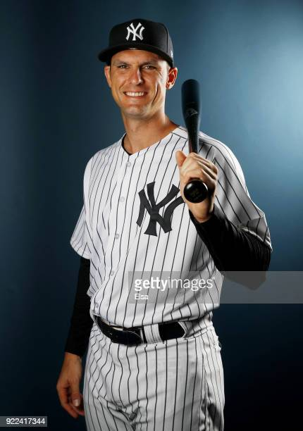Greg Bird of the New York Yankees oses for a portrait during the New York Yankees photo day on February 21 2018 at George M Steinbrenner Field in...