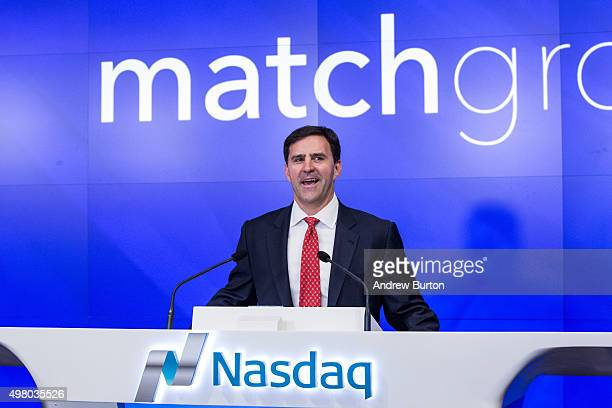 Greg Blatt chairmain of Match Group celebrates the company's initial public offering at the NASDAQ stock exchange on November 20 2015 in New York...