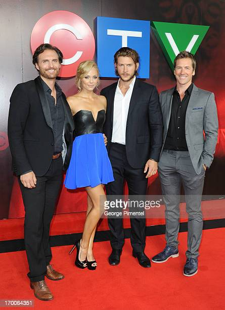 Greg Bryk Laura Vandervoort Greyston Holt Paul Greene from 'Bitten' attend CTV Upfront 2013 Presentation at Sony Centre For Performing Arts on June 6...