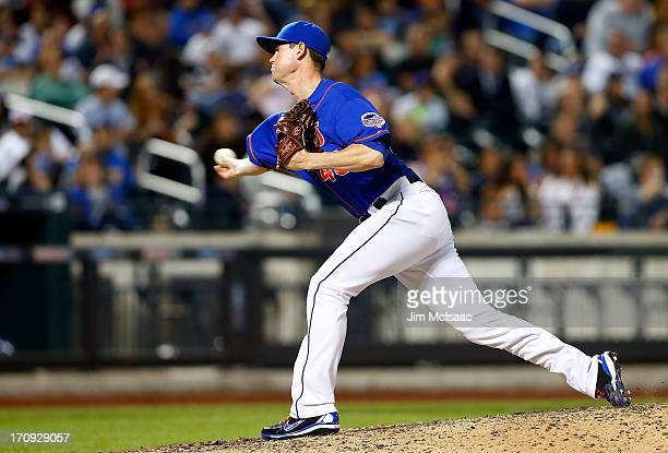 Greg Burke of the New York Mets in action against the Chicago Cubs at Citi Field on June 14 2013 in the Flushing neighborhood of the Queens borough...