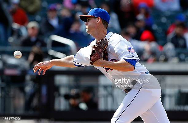 Greg Burke of the New York Mets in action against the Miami Marlins at Citi Field on April 7 2012 in the Flushing neighborhood of the Queens borough...