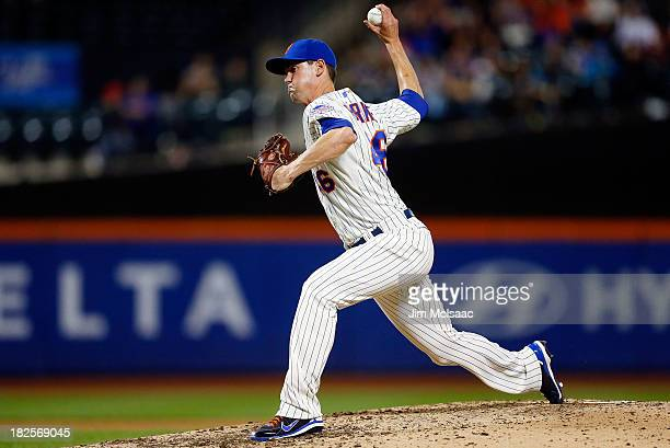 Greg Burke of the New York Mets in action against the Washington Nationals at Citi Field on September 9 2013 in the Flushing neighborhood of the...