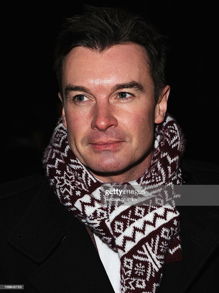 Greg Burns attends the opening night of The Rocky Horror Picture Show at New Wimbledon Theatre on January 21, 2013 in Wimbledon, England.