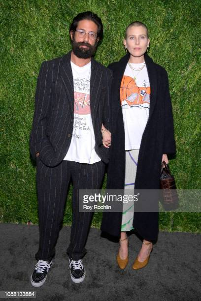 Greg Chait and Dree Hemingway attend the CFDA / Vogue Fashion Fund 15th Anniversary Event at Brooklyn Navy Yard on November 5 2018 in Brooklyn New...