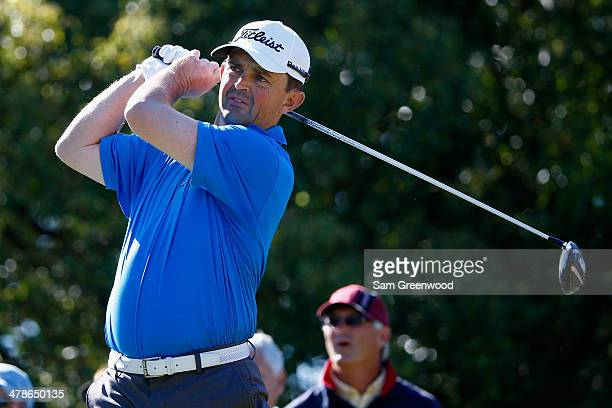 Greg Chalmers of Australia hits a tee shot during the second round of the Valspar Championship at Innisbrook Resort and Golf Club on March 14, 2014...