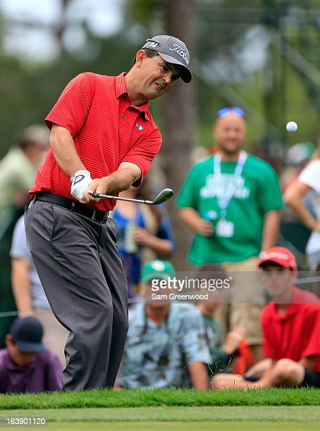 Greg Chalmers of Australia plays a shot on the 10th hole during the final round of the Tampa Bay Championship at the Innisbrook Resort and Golf Club...