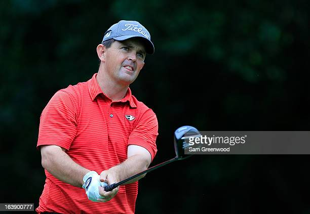 Greg Chalmers of Australia plays a shot on the 11th hole during the final round of the Tampa Bay Championship at the Innisbrook Resort and Golf Club...