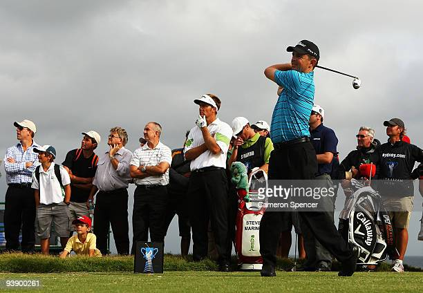 Greg Chalmers of Australia plays a tee shot during the second round of the 2009 Australian Open at New South Wales Golf Club on December 4 2009 in...