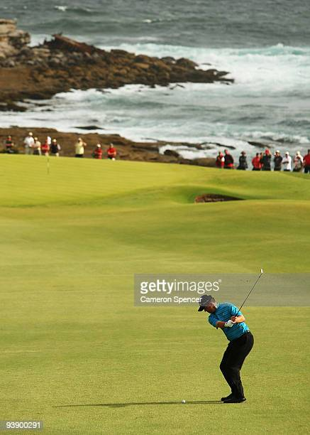 Greg Chalmers of Australia plays an approach shot during the second round of the 2009 Australian Open at New South Wales Golf Club on December 4 2009...