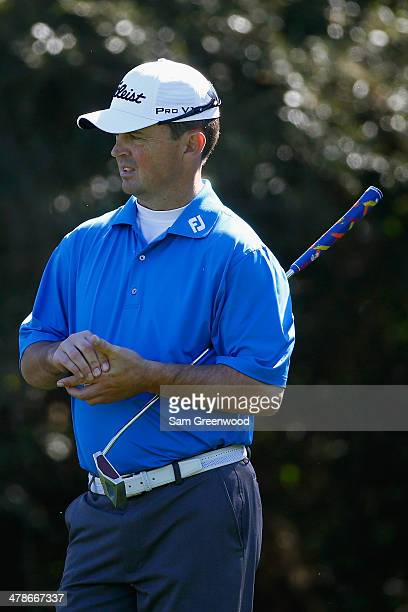 Greg Chalmers of Australia waits to play a shot on the 7th hole during the second round of the Valspar Championship at Innisbrook Resort and Golf...