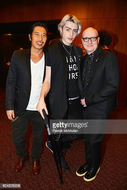 Greg Chan Castle MacArthur and Chad Thompson attend the HBO Documentary Films New York Premiere of 'The Trans List' at The Paley Center for Media on...