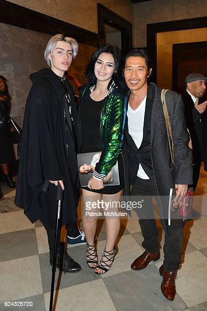 Greg Chan Nicole Maines and Castle MacArthur attend the HBO Documentary Films New York Premiere of 'The Trans List' at The Paley Center for Media on...