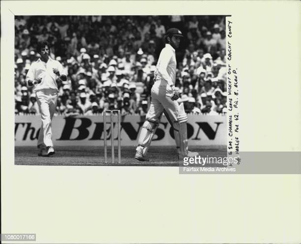 Greg Chappell leave wicket out caught Coney off Hadlee for 42 December 26 1980