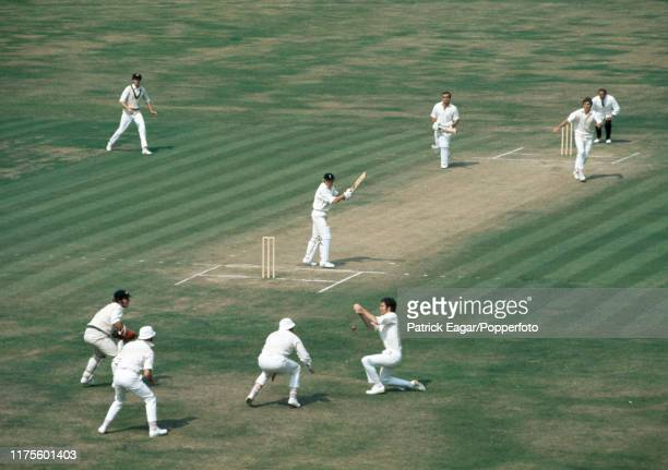 Greg Chappell of Australia drops a chance from England batsman Barry Wood off the bowling of Bob Massie during the 5th Test match between England and...