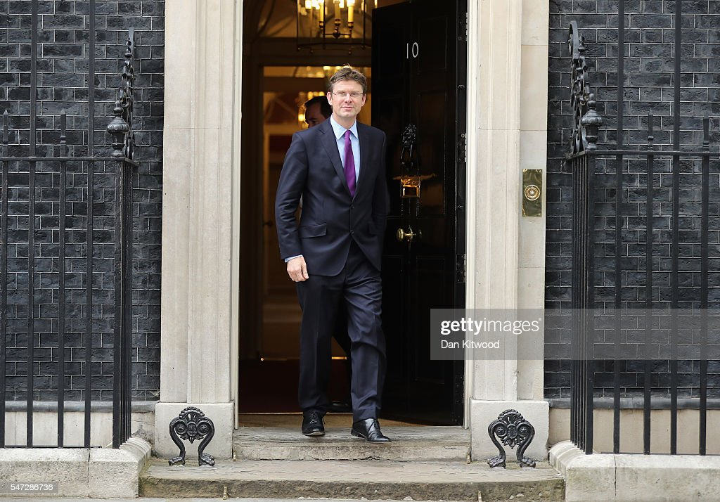 Greg Clark leaves 10 Downing Street where he was appointed as Business, Energy and Industrial Strategy Secretary, as Prime Minister Theresa May continues to appoint her cabinet on July 14, 2016 in London, England. The UK's New Prime Minister began appointing the key Ministerial positions in her cabinet shortly after taking up residence at Number 10 Downing Street.