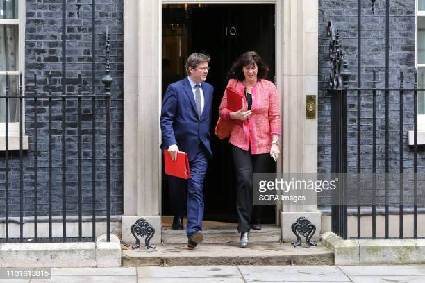 Greg Clark Secretary of State for Business Energy and Industrial Strategy and Claire Perry Minister of State at Department for Business Energy and...