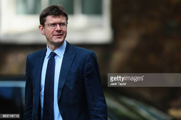 Greg Clark the Secretary of State for Business arrives at 10 Downing Street as the Cabinet meet to discuss postBrexit customs plans on May 2 2018 in...