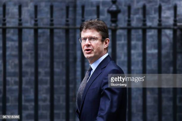 Greg Clark UK business secretary arrives for a meeting of cabinet minsters at number 10 Downing Street in London UK on Tuesday June 5 2018 UK...