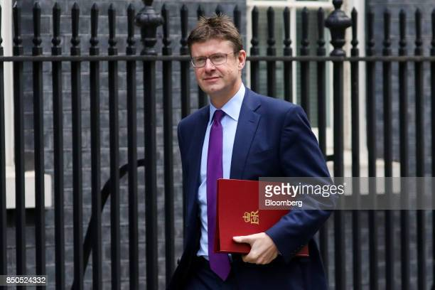 Greg Clark UK business secretary arrives for a special cabinet meeting at number 10 Downing Street in London UK on Thursday Sept 21 2017 UK Prime...