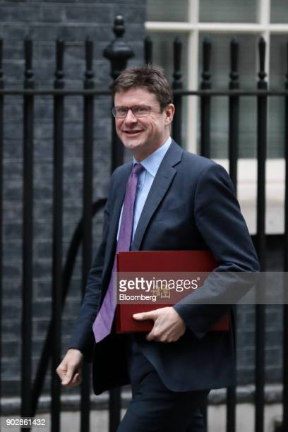 Greg Clark UK business secretary arrives for a weekly meeting of cabinet ministers at number 10 Downing Street in London UK on Tuesday Jan 9 2018 UK...