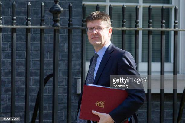Greg Clark UK business secretary arrives for a weekly meeting of cabinet ministers at number 10 Downing Street in London UK on Tuesday May 1 2018 UK...