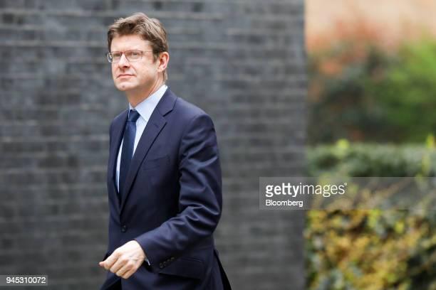 Greg Clark UK business secretary arrives for an emergency Cabinet meeting at number 10 Downing Street in London UK on Thursday April 12 2018 UK Prime...