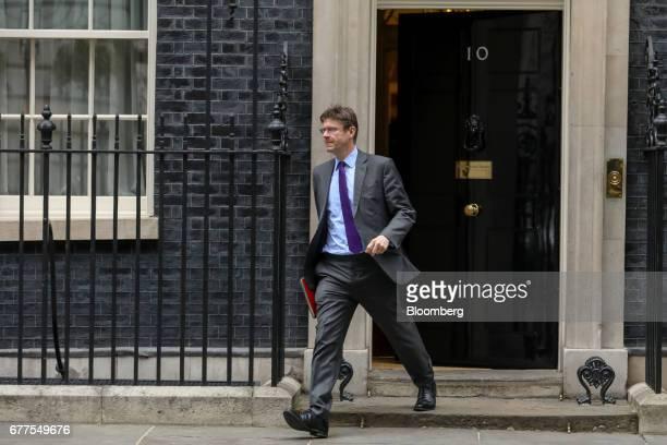 Greg Clark UK business secretary leaves number 10 Downing Street in London UK on Wednesday May 3 2017 UK Prime MinisterTheresa Mayvowed she won't...