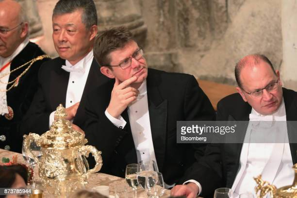 Greg Clark UK business secretary listens during the annual Lord Mayor's Banquet at the Guildhall in the square mile financial district of the City of...